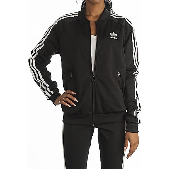 black adidas superstar jacket womens